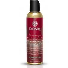 Массажное масло DONA Strawberry Souffle с ароматом клубничного суфле - 125 мл.