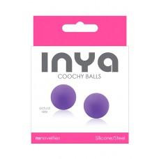 Фиолетовые вагинальные шарики без сцепки  INYA Coochy Balls Purple