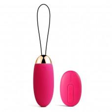 Сливово-розовое виброяйцо Elva с пультом ДУ