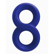 Синее эрекционное кольцо-восьмерка Infinity Ring