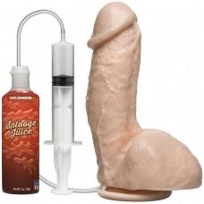 Фаллоимитатор с имитацией семяизвержения The Amazing Squirting Realistic Cock - 18,8 см.