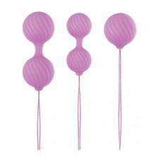 Набор розовых вагинальных шариков Luxe O  Weighted Kegel Balls